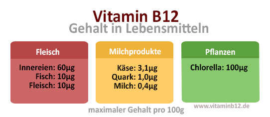 Vitamin-B12-Gehalt